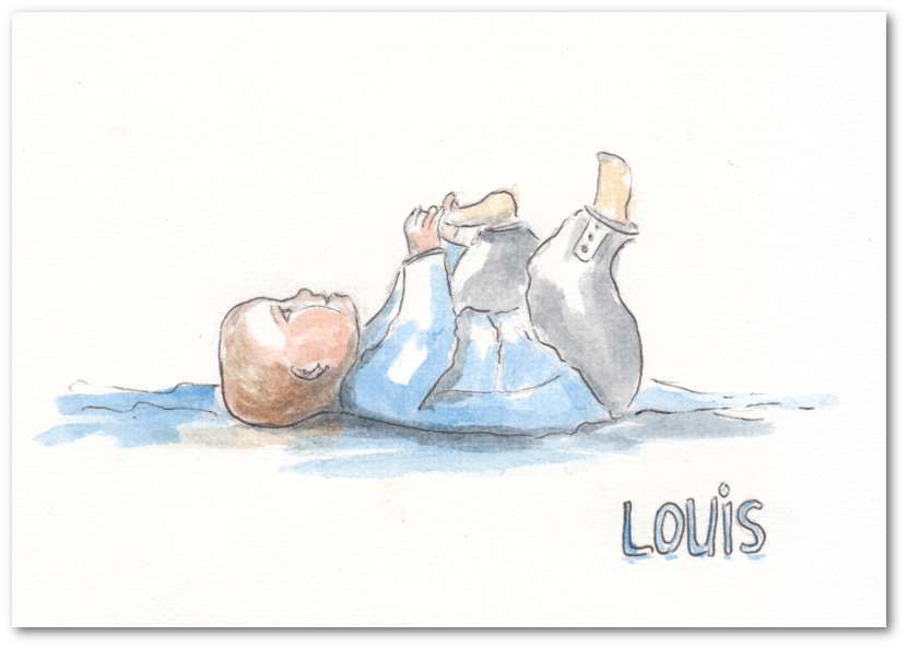 Le faire-part de Louis